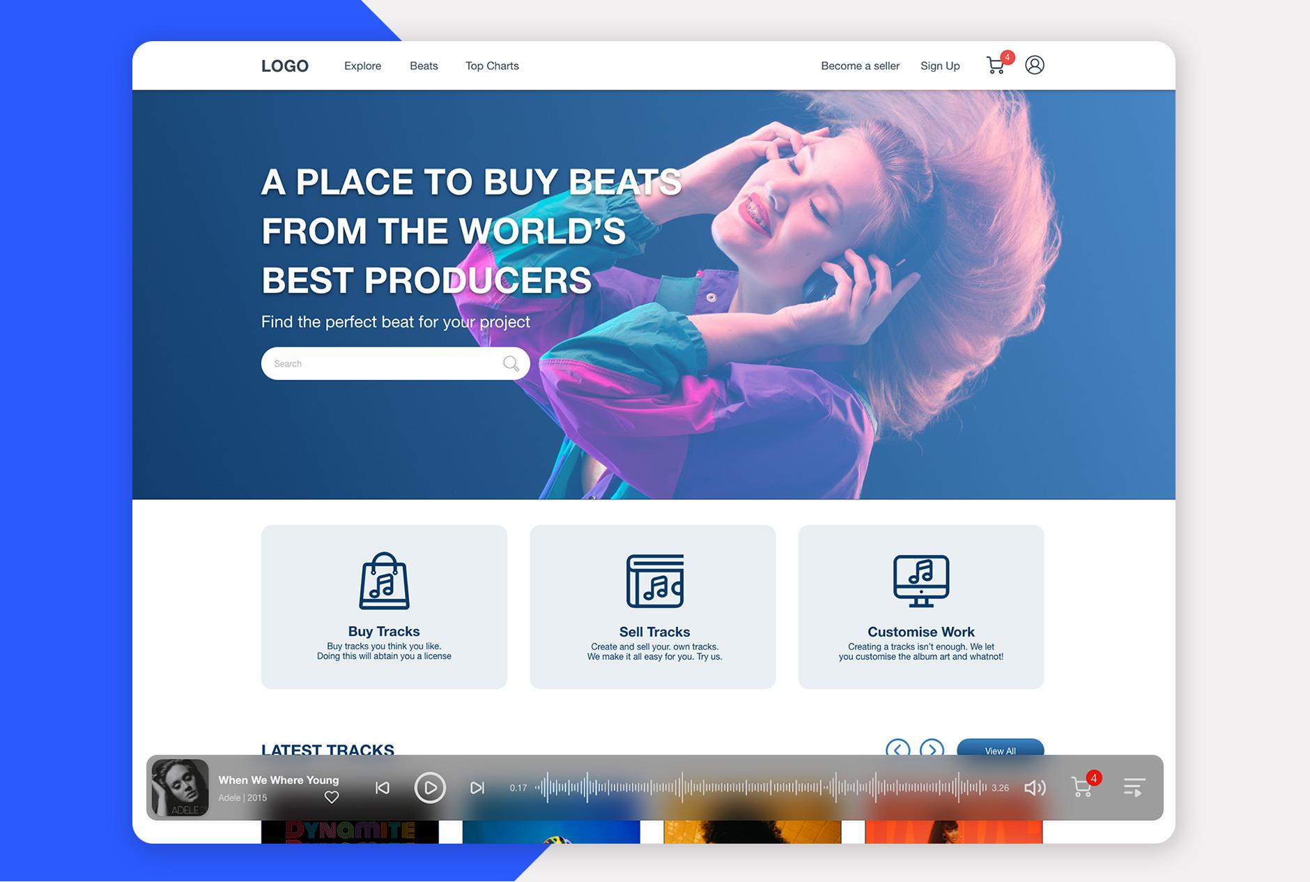 طراحی ظاهر سایت موسیقی